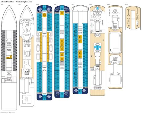 cruise ship floor plan adonia deck plans diagrams pictures video