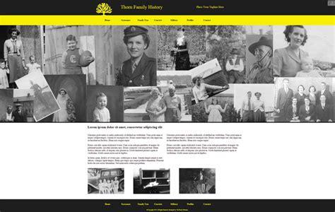 Thorn Family History Website Template 1st Fleet Beyond Family Genealogy Website Templates