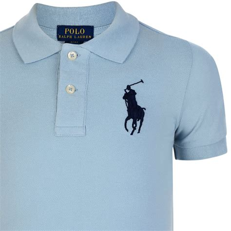 light blue boys ralph boys light blue polo shirt with embroidered