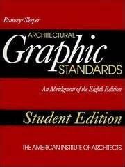 Ramsey Sleeper Architectural Graphic Standards by Ramsey Sleeper Architectural Graphic Standards 1994 Edition Open Library