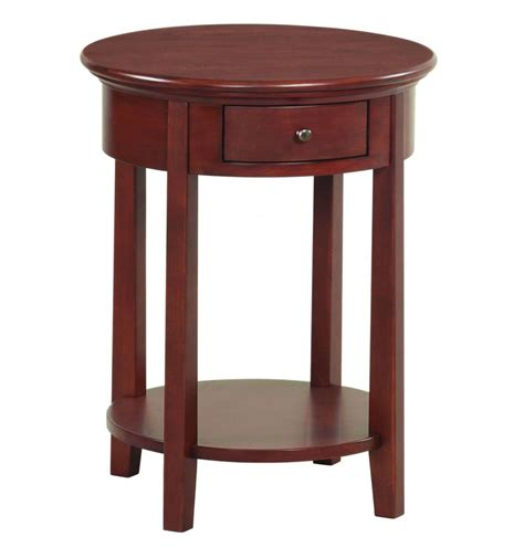 accent side table 20 inch mckenzie round side tables bare wood fine wood