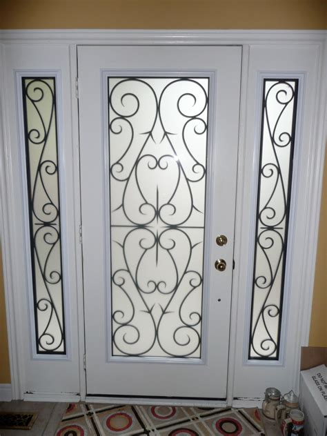 Interior Glass Doors Home Depot by Wrought Iron Glass Door Inserts Yorkhomeimprovementsupplies