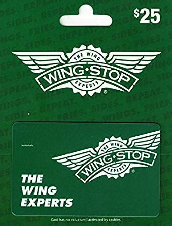 amazon com wingstop 25 gift card gift cards - Wingstop Gift Card