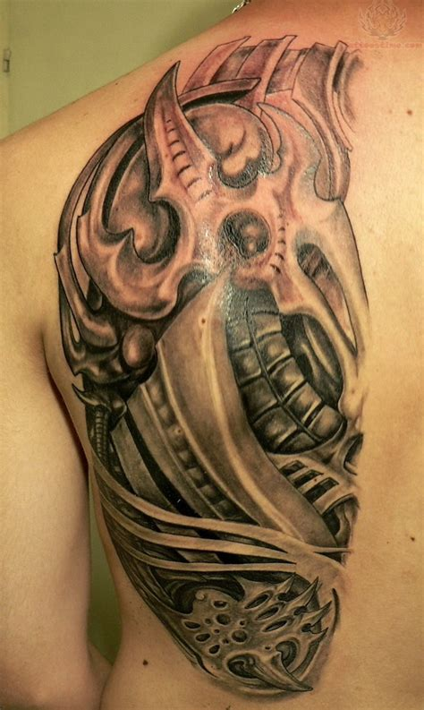 biomechanical shoulder tattoo designs mechanical images designs