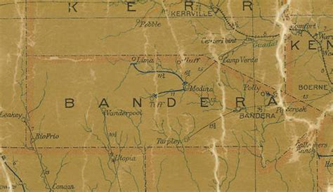 pipe creek texas map bandera county texas