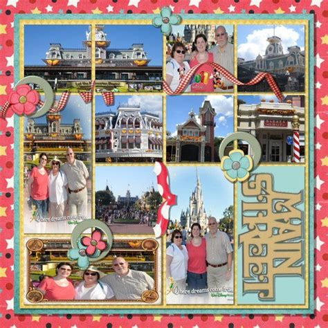 scrapbook layout with lots of pictures 1000 images about disney scrapbooking magic kingdom on