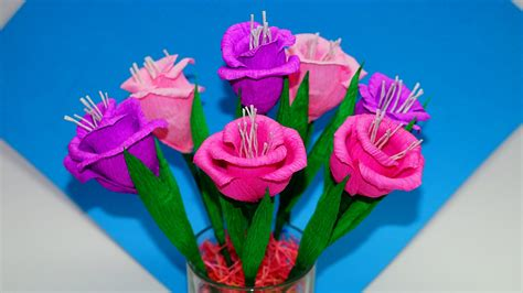 How To Make Paper Flowers Bouquet - easy flowers how to make flower bouquet gift