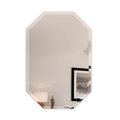 30 inch mirror 20 quot x 30 quot inch octagon frameless wall mirror bevel