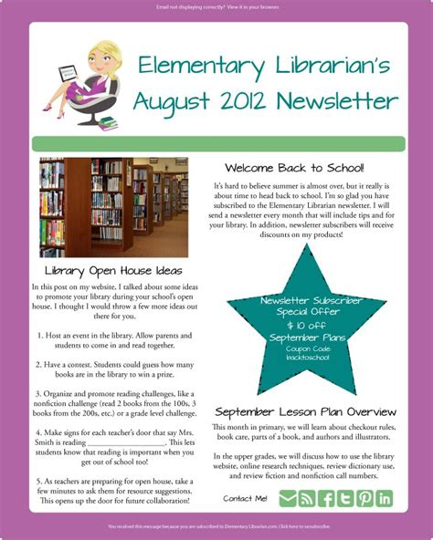 library newsletter template best 25 newsletter sle ideas on exle of