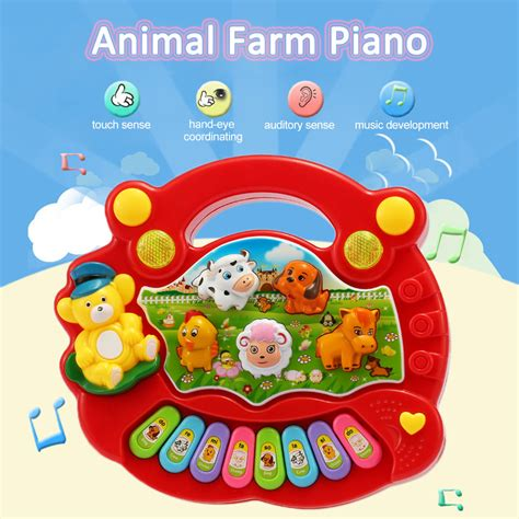 baby kids electrical animal farm mobile electric piano
