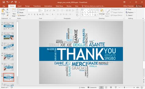 Animated Design Your Words Powerpoint Template Creating A Template In Powerpoint