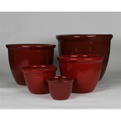 tuscan path 44cm glazed bell pot i n 2860167 bunnings warehouse