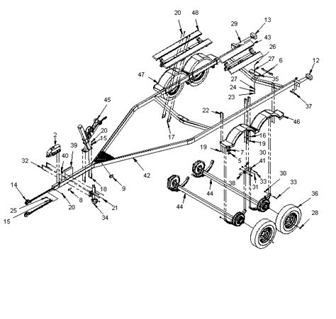 boat trailer axle assembly diagram karavan tandem axle trailers