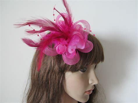 Hair Clip Mini Fuschia Clip 6 new style pink wedding fascinator headpiece