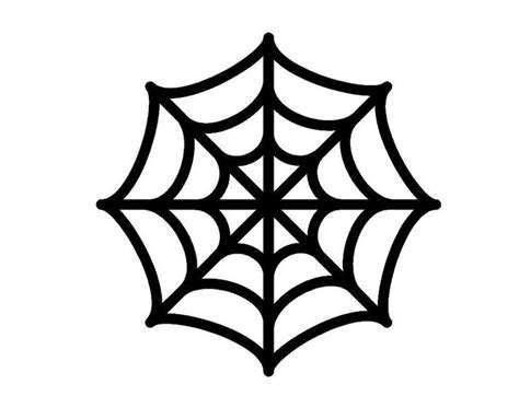 Spider Web Cut Out Template Spider Web Color Template