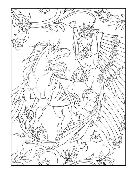 magical horses coloring pages 197 best horse lovers coloring books images on pinterest