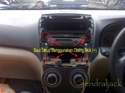 diy cara membuka panel unit all new avanza
