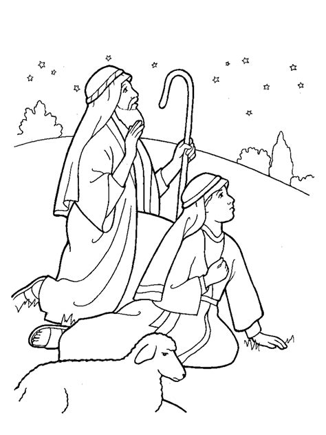 coloring pages of nativity scene lds nativity shepherds