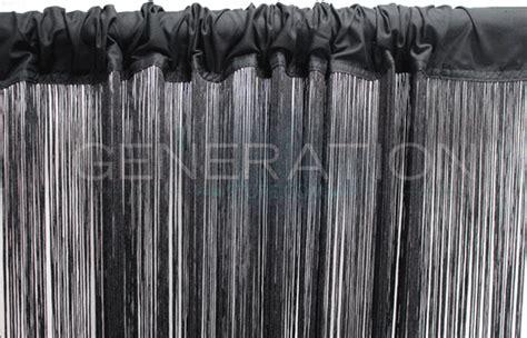 black fringe curtain black string or fringe curtain 3 feet wide x 9 feet long
