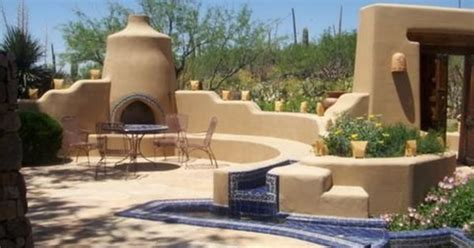 an enclosed southwest design style patio with outdoor