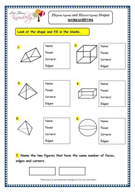 plain and worksheets grade 3 maths worksheets 14 3 geometry 2d plane