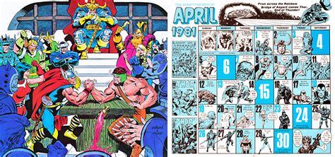 Calendario De 1981 Imprime El Calendario De Marvel De 1981 Que Coincide Con