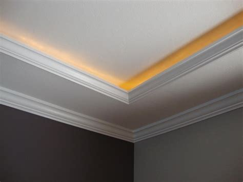 lighting behind crown molding about this job a