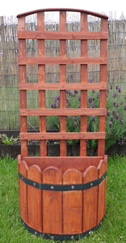 wood wooden trellis garden planter new ebay 163 6
