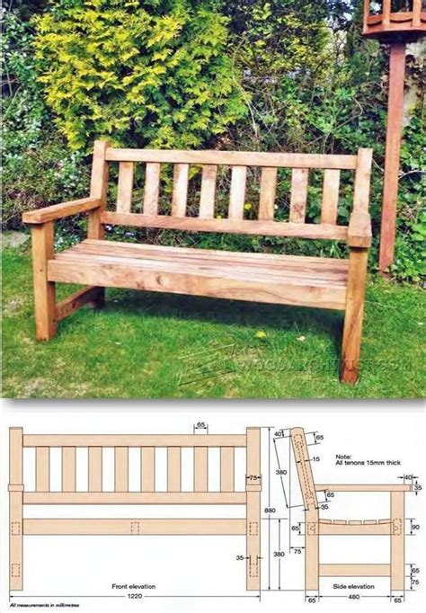 build garden bench outdoor furniture plans  projects