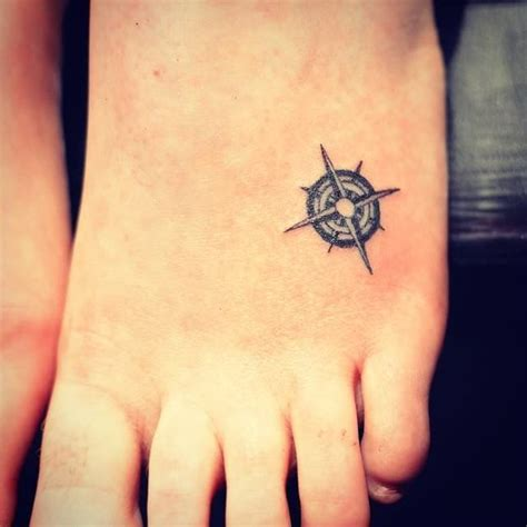 tattoo compass small small compass foot tattoo creativefan
