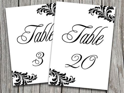 table numbers for wedding template wedding wedding table number