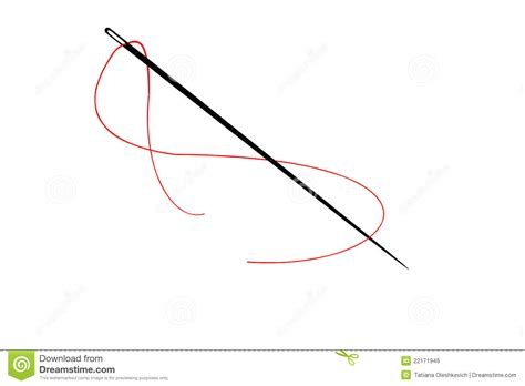 String With Needle And Thread - needle and thread stock illustration image of gadget