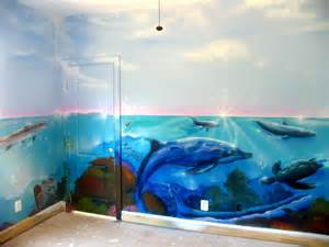 Ocean Wall Mural kid s under the sea ocean mural jermainepowell com