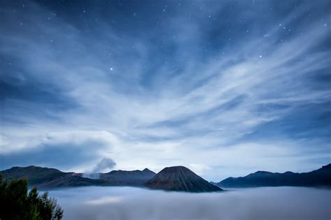 landscapes clouds night java sky stars tablet cool