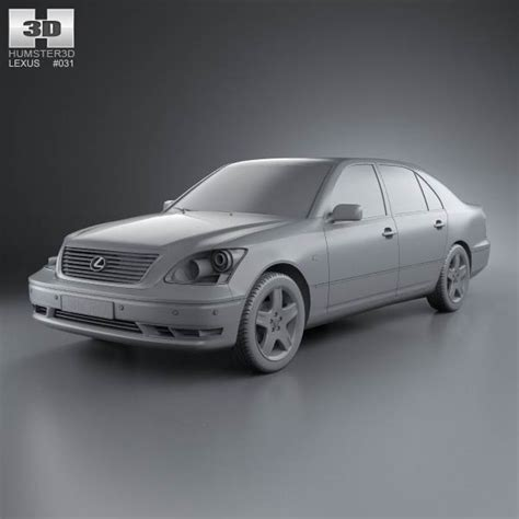 lexus 2003 model lexus ls xf30 2003 3d model hum3d
