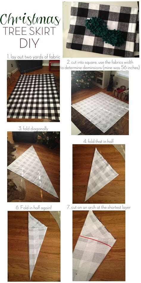 make your own christmas tree skirt out of your fave fabric