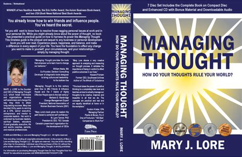 Whats A Book Jacket Report by Managing Thought Dust Jacket J Lore Book Jacket Managing Thought