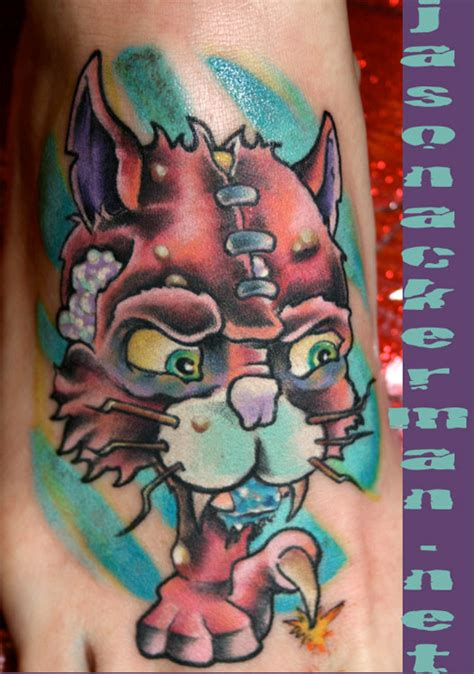 tattoo new school cat large image leave comment