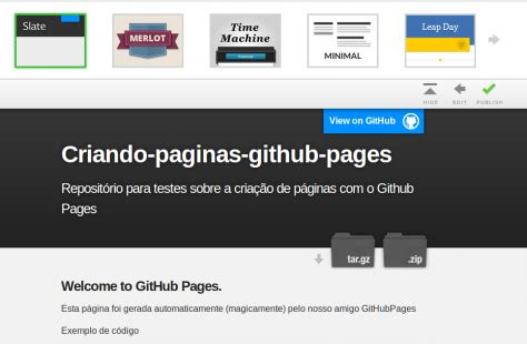 templates for github pages templates for github pages criando p 225 ginas web para
