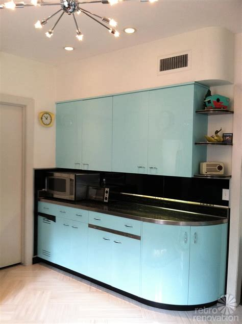 Metal Kitchen Furniture Robert And Caroline S Mid Century Home With Dreamy St Charles Kitchen Cabinets Retro Renovation