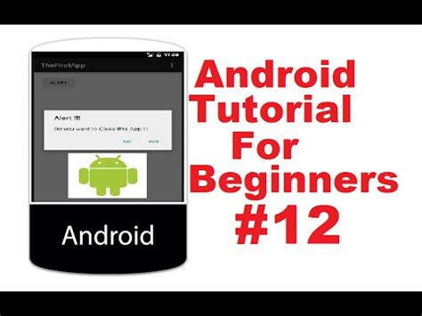 Android Tutorial For Beginners With Exles | android tutorial for beginners 12 android alert dialog
