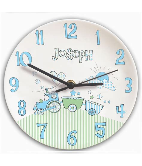 boys bedroom clock personalised clock for boys bedroom train just for gifts
