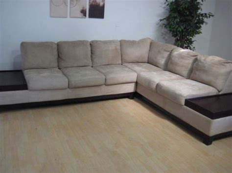 With Chaise Lounge Attached by Microfiber Sectional With Attached End Tables Chaise