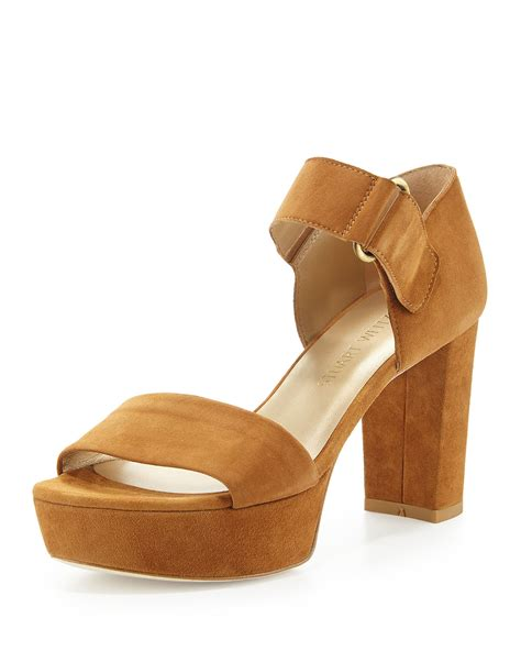 Athira Suede Platform Sandal stuart weitzman causeway suede platform sandal in brown camel lyst