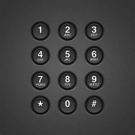 keyboard number tutorial create a realistic telephone keypad using layer styles