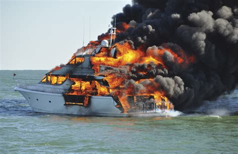 yacht on fire guide to fire safety on your boat power motoryacht