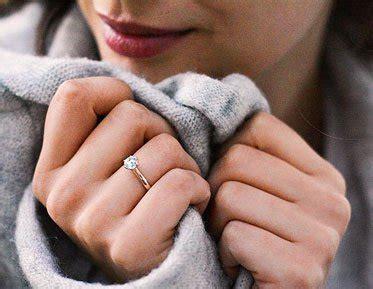 verlobungsring mit diamant verlobungsringe ros 233 gold mit diamant der trend 2018
