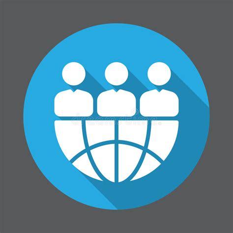 design effect international international team flat icon round colorful button