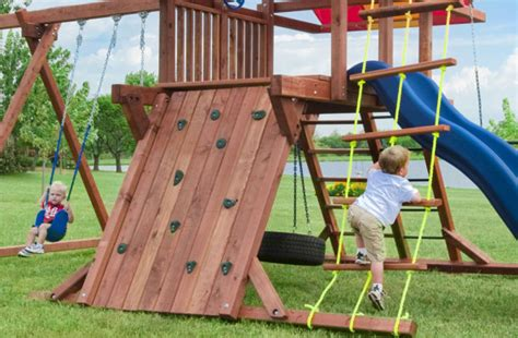 build   swing set  single tower designer
