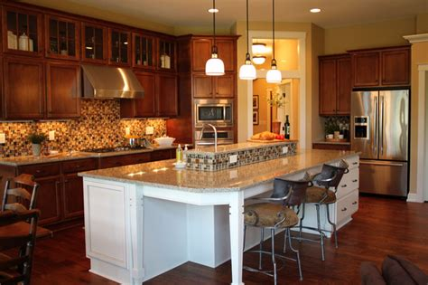 open kitchen with island traditional kitchen